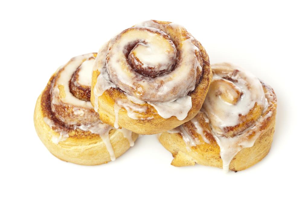 свежие сладкие булочки