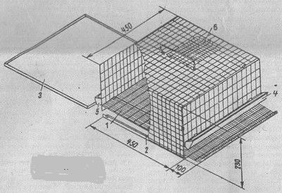 Из металлической сетки без каркаса клетка для перепелов