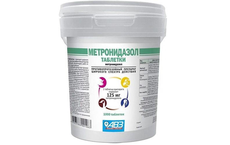 Метронидазол для кур в таблетках
